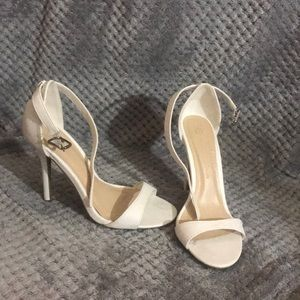Shoes - white strap heels